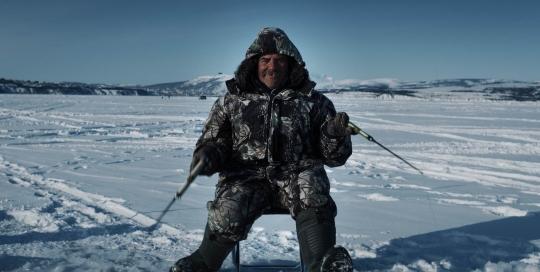 KOLYMA-Angler in der Bucht von Magadan
